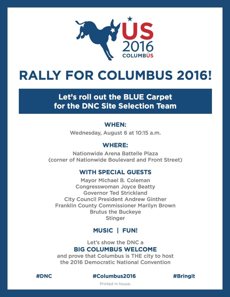 DNC Rally Flyer